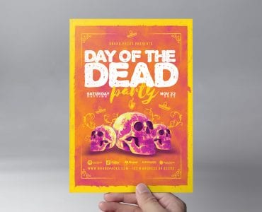 Day of The Dead Flyer Template (Front)