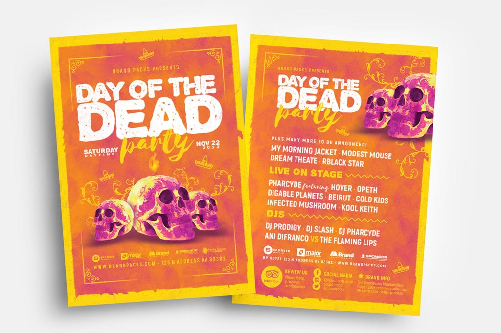 Day of The Dead Flyer Templates