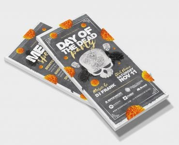 Day of The Dead Party Flyer Template (DL Flyer)