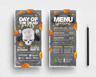 Day of The Dead Party Flyer Template (DL Flyers)