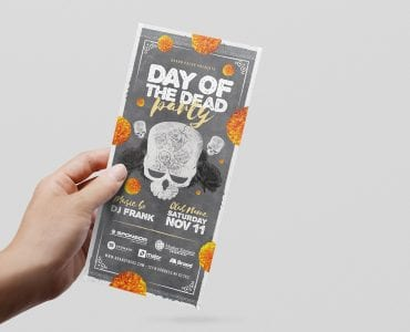 Day of The Dead Party Flyer Template (DL Flyer Front)
