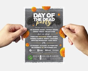 Day of The Dead Party Flyer Template (Back)