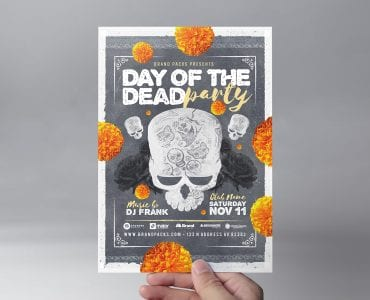 Day of The Dead Party Flyer Template (Front)