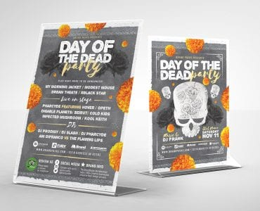 Day of The Dead Party Table Tent Templates