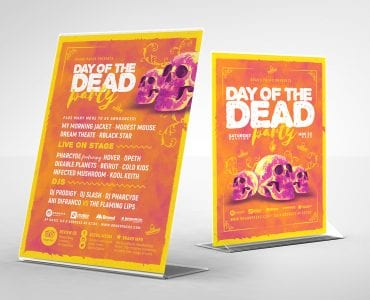 Day of The Dead Table Tent Templates