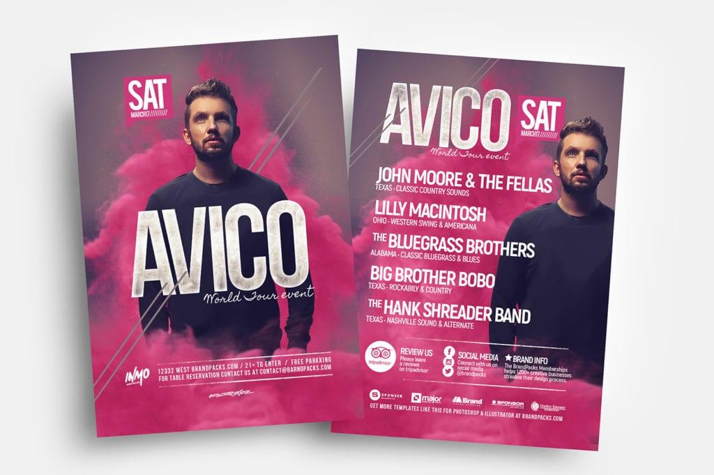 DJ Event Flyer Templates in PSD & Vector