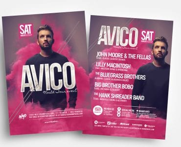 DJ Event Flyer Templates in PSD & Vector