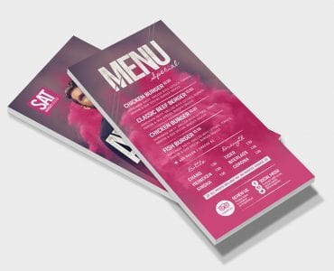 DJ Event Flyer Template in PSD & Vector (DL Rack Cards)