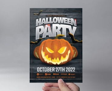 Halloween Party Flyer Template (Front)