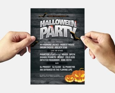 Halloween Party Flyer Template (Back)