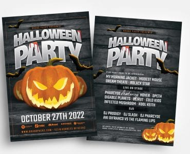 Halloween Party Flyer Templates