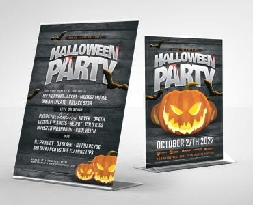 Halloween Party Flyer Template (Table Tent)