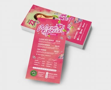 Ladies Night DL Card Template (Back)