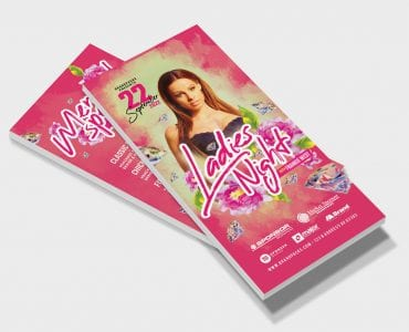 Ladies Night DL Card Template (Front)