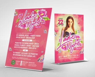 Ladies Night Flyer Templates (Back)