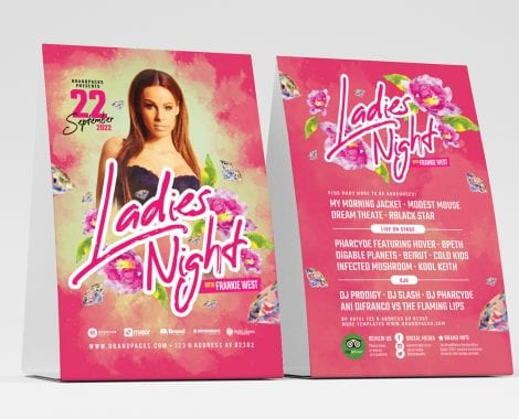 Ladies Night Table Tent Templates