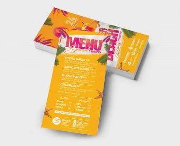 Summer Beach DL Card Template (Back)