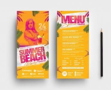 Summer Beach DL Card Templates