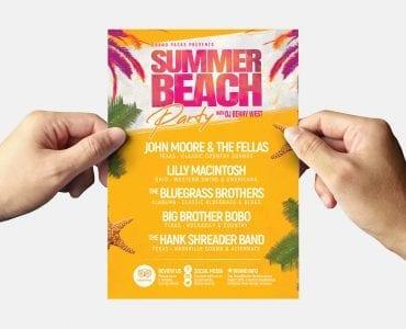 Summer Beach Flyer Template (Back)