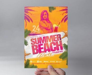 Summer Beach Flyer Template (Front)