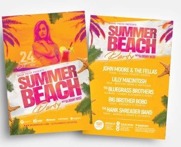 Summer Beach Flyer Templates