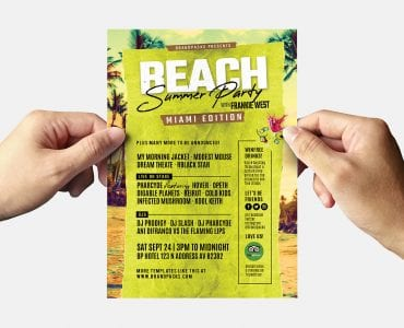 Summer Beach Party Flyer Template (back)