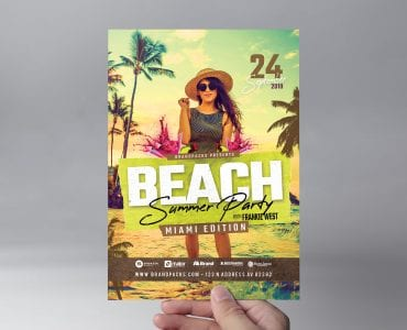 Summer Beach Party Flyer Template (front)