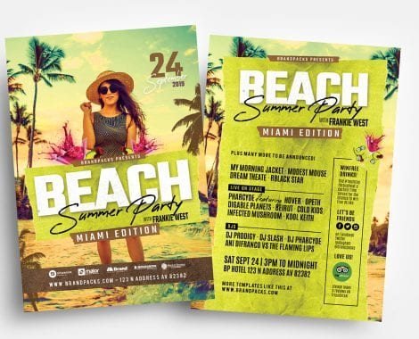 Summer Beach Party Flyer Templates