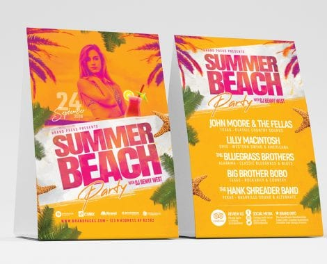 Summer Beach Table Tent Templates