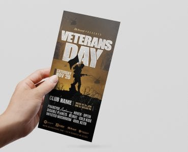 Veterans Day DL Card Template (Front)