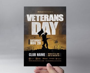 Veterans Day Flyer Template (Front)