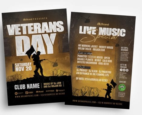 Veterans Day Flyer Templates