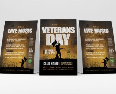 Veterans Day Table Tent Templates