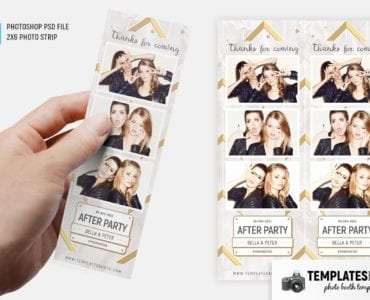 After Party Photo Booth Template (2x6 photo strip)