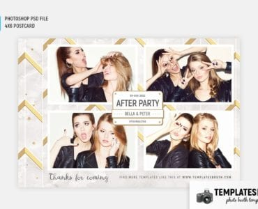 After Party Photo Booth Template (4x6 postcard)