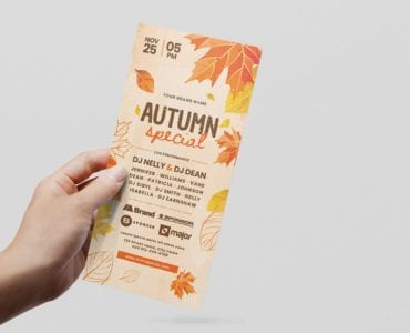 Autumn DL Card Template (Front)