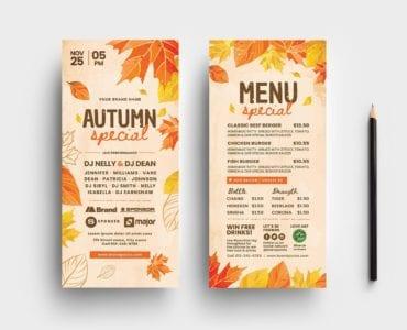 Autumn DL Card Templates