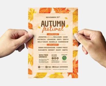 Autumn Flyer Template (Back)