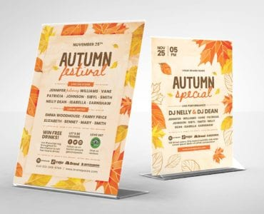 Autumn Table Tent Template (Back)
