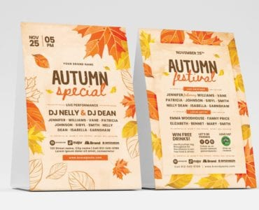 Autumn Table Tent Template (Front)