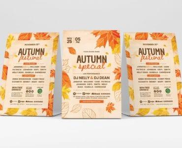 Autumn Table Tent Templates