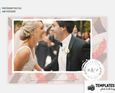 Brushed Chic Photo Booth Template (4x6 postcard)