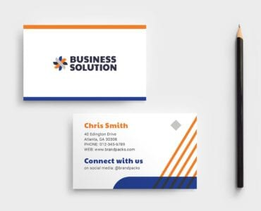Corporate Event Business Card Template