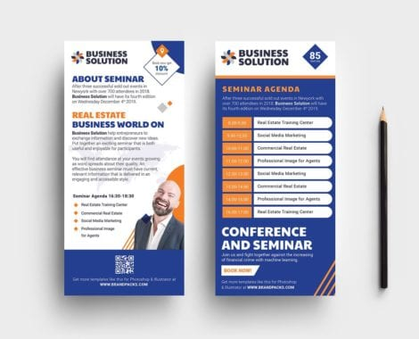 Corporate Event DL Card Template