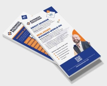 Corporate Event DL Card Template (front)