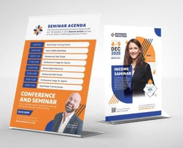 Corporate Event Flyer/Table Tent Template