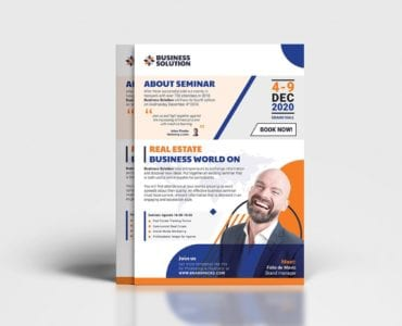 Corporate Event Advertisement Template (Back)