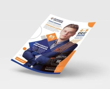 Corporate Event Advertisement Template (Front)