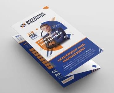 Corporate Event Tri-Fold Brochure Template (front)