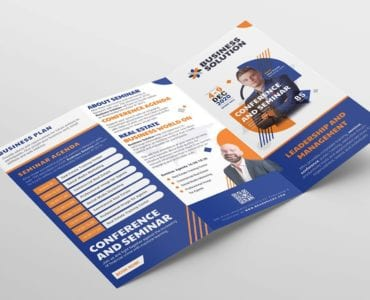 Corporate Event Tri-Fold Brochure Template (outside)
